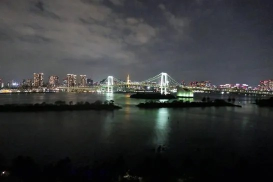 ヒルトン東京お台場のエグゼクティブツインの夜景