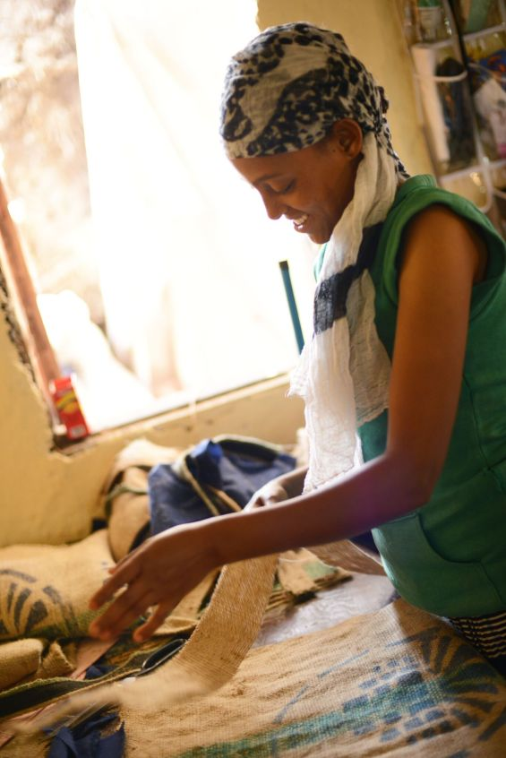 ethiopian woman creating