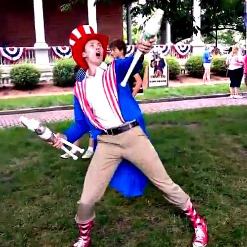 Patriotic Juggler