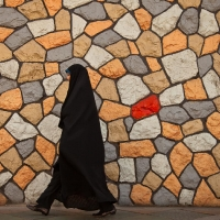 Woman with chador in Teheran