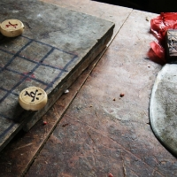 Chinese chess and knife