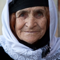 Kurdish woman with one eye