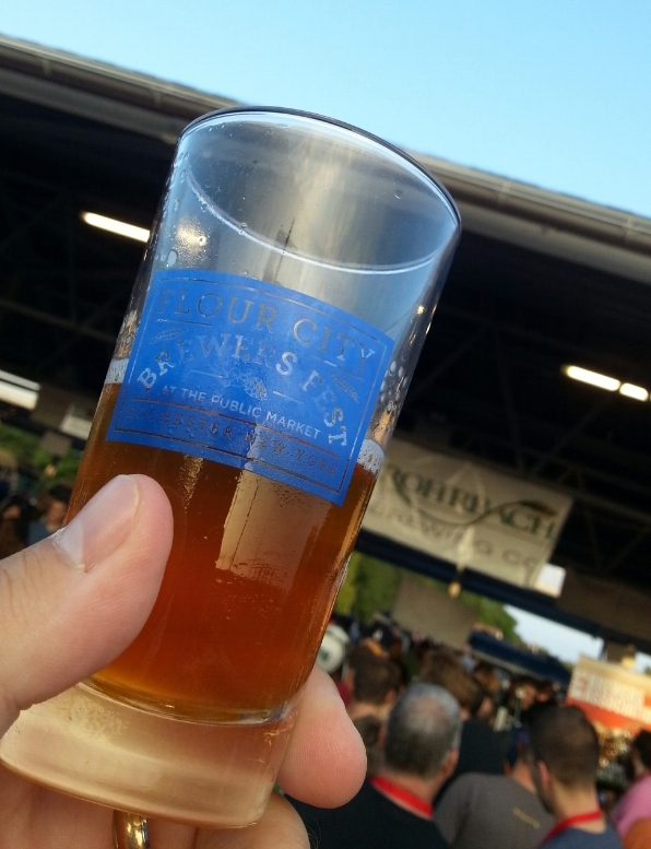 Trying Some Beers at Flour City Brew Fest