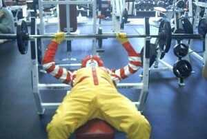 bench pressing 300 pounds