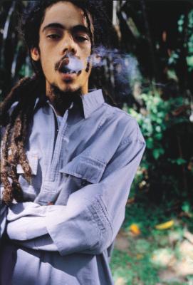 Damien Marley. We're sure he didn't inhale.