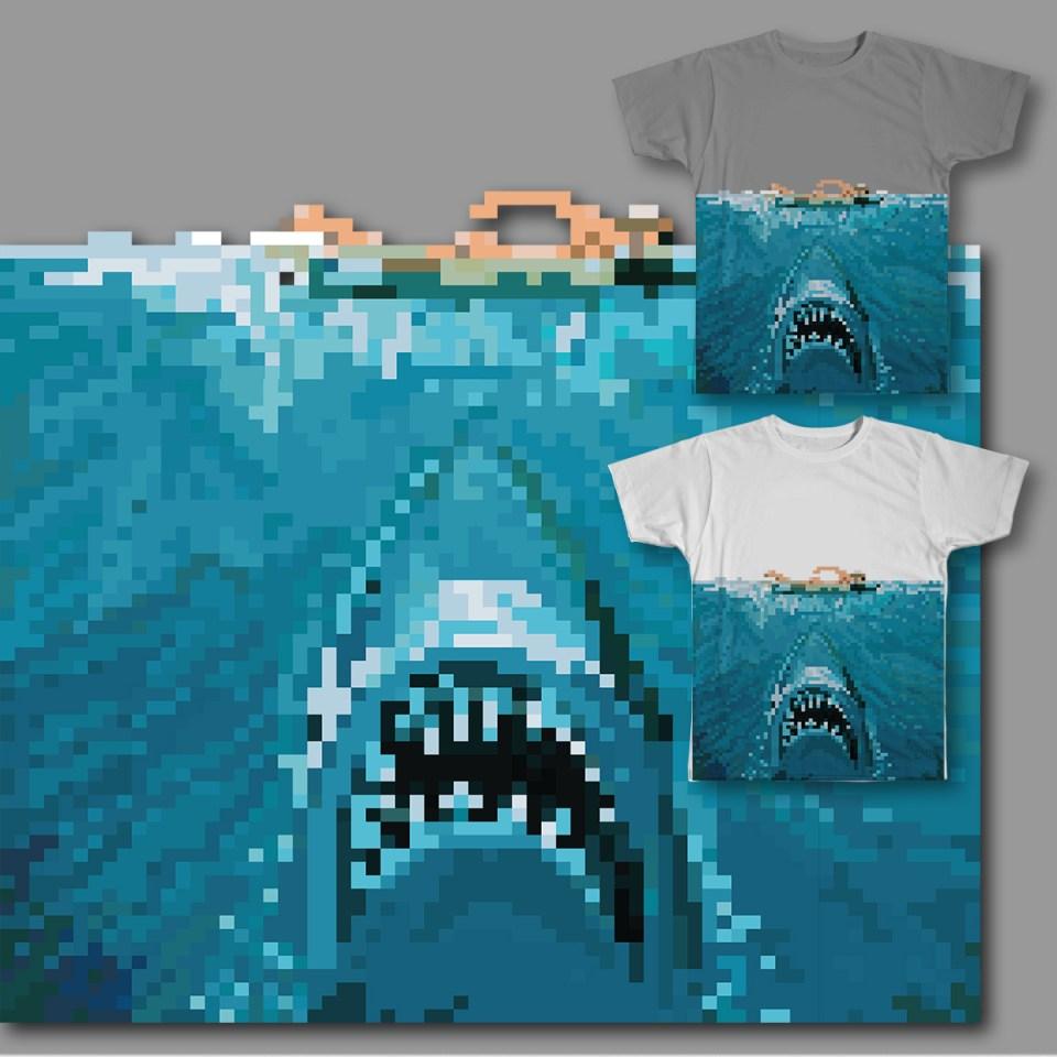 8 Bit Bite T-shirt on Threadless.com
