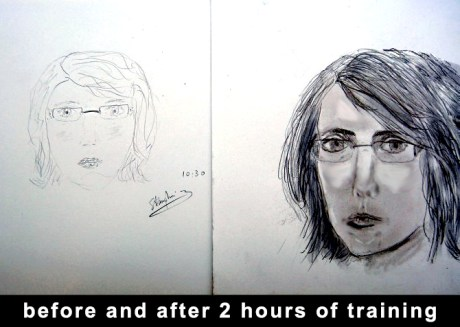 A dramatic improvement after just one 2 hour course.