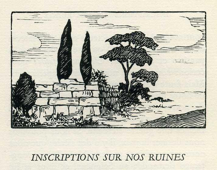 Inscriptions sur nos ruines