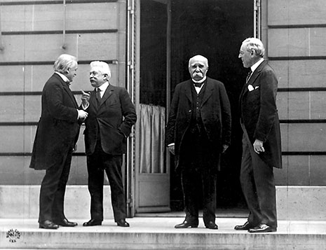 Lloyd George, Orlando, Clemenceau et Wilson, à Paris en 1919