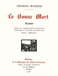 Maurras - La Bonne Mort, 1926