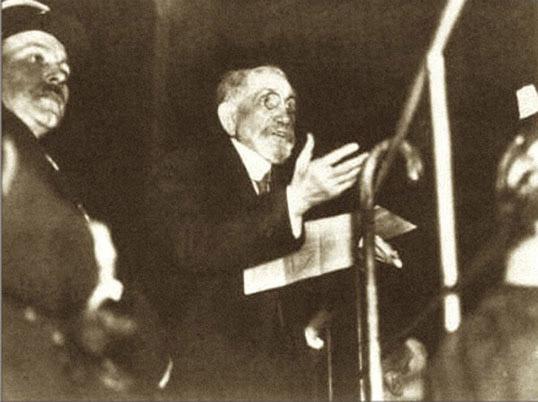 Maurras lors de son procès à Lyon en janvier 1945