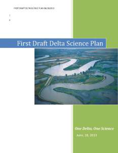 Delta Science Plan cover