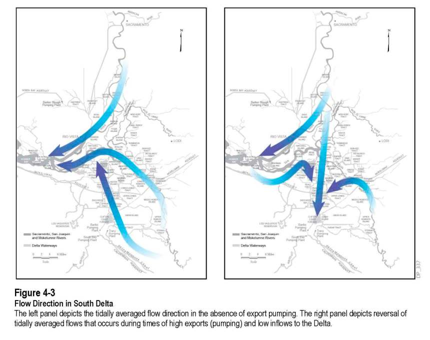 Flow Direction in the South Delta, from the Delta Plan