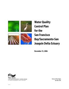 Bay Delta WQCP Cover
