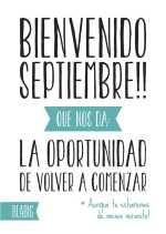 Hola Septiembre, lo del viernes no cuenta