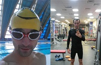 Тренировки по бегу, по плаванию и в тренажерном зале (триатлон ironman). 40 дней в пути!