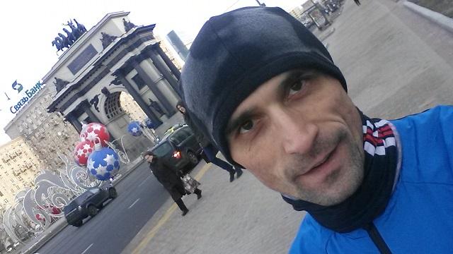 Пробежка по Кутузовскому проспекту. Москва. Триумфальная арка.