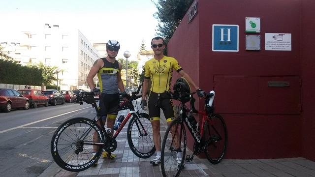 Максим Бувалин и Александр Борисов в за 3 дня до старта Ironman Barcelona 2016