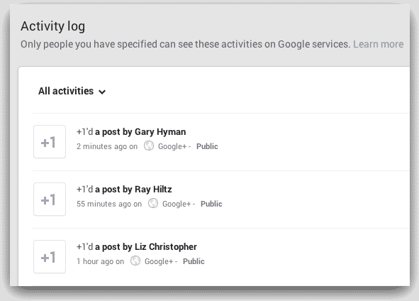 Google Plus New +1 Recommendations