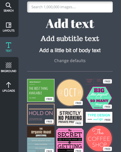 Canva text
