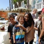 Maxim Knight with China Anne McClain (A.N.T. Farm) and Josh Feldman (Santa Pups)