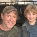 "Maxim Knight with Will Patton on ""Falling Skies"" set"