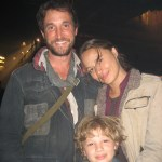 "Maxim with Mr. Noah Wyle and Miss Moon Bloodgood on the ""Falling Skies"" set"