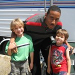 "On the set of ""Ball Don't Lie"" with Ludacris"