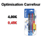 Carrefour : le lot de 4 Pilot Frixion à 0,45€ au lieu de 4,90€ (Optimisation)