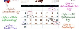 Marketing Calendar July 2016