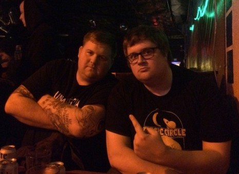 "Randy and Mark at Mike ""Bay Bay"" Scibetta benefit in Richmond, VA (photo by Amelia)"