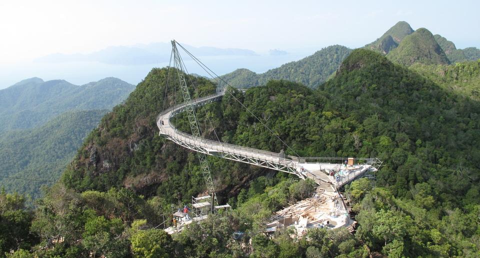 Мост SkyBridge, остров Лангкави, Малайзия.