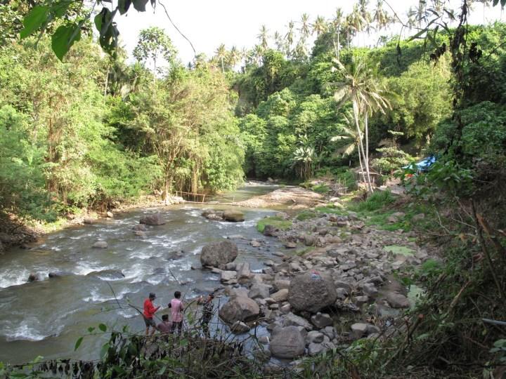 Вид на реку от водопада.