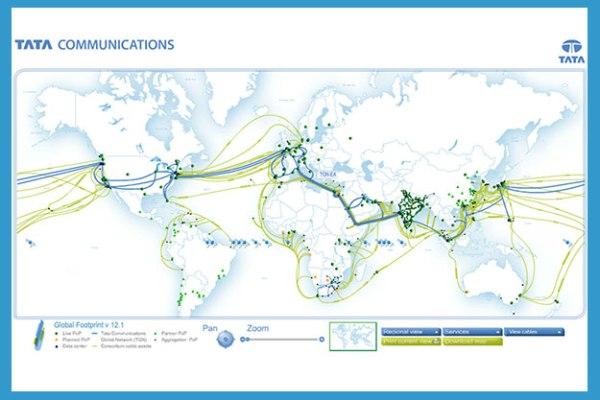 Interactive telecom map app