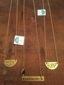 Anchored necklaces