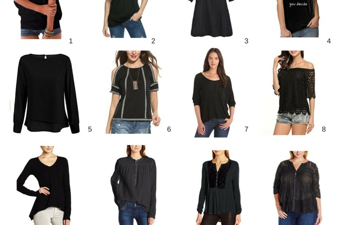 These black top styles should be your wardrobe staples