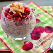 Make ahead oatmeal, chia seeds, almonds, pomegranates and greek yogurt. If you have 7 minutes before you go to sleep you will breakfast ready when you wake up.