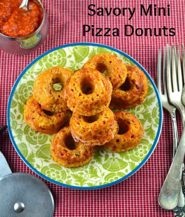 Savory Mini Pizza Donuts #Donuts #Pizza #Recipe