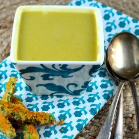 Vegan cream of Asparagus soup #vegan #recipes #GlutenFree