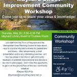 Street Improvement Community Workshop May 26th