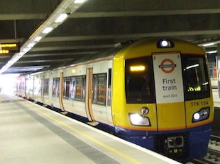 The first train to Dalston Junction carried the Mayor and guests. Photo: MayorWatch