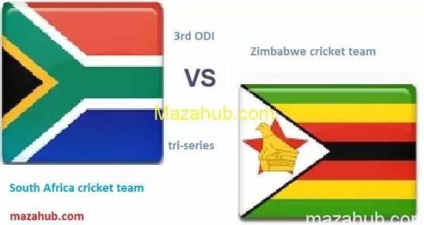 Zimbabwe vs South Africa 3rd ODI