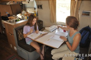 A-B homeschooling Airstream