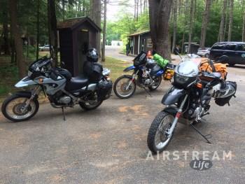 Lake Luzerne campground motorcyles