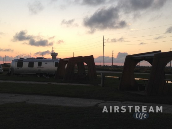 Galveston Airstream sunset