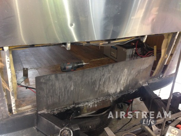 Airstream steel frame plate ext