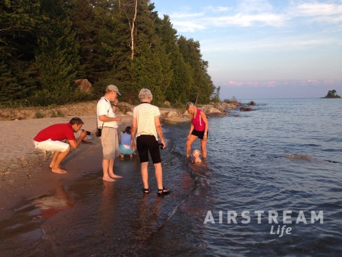 DeTour MI beach family