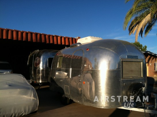 Airstream Caravel in driveway