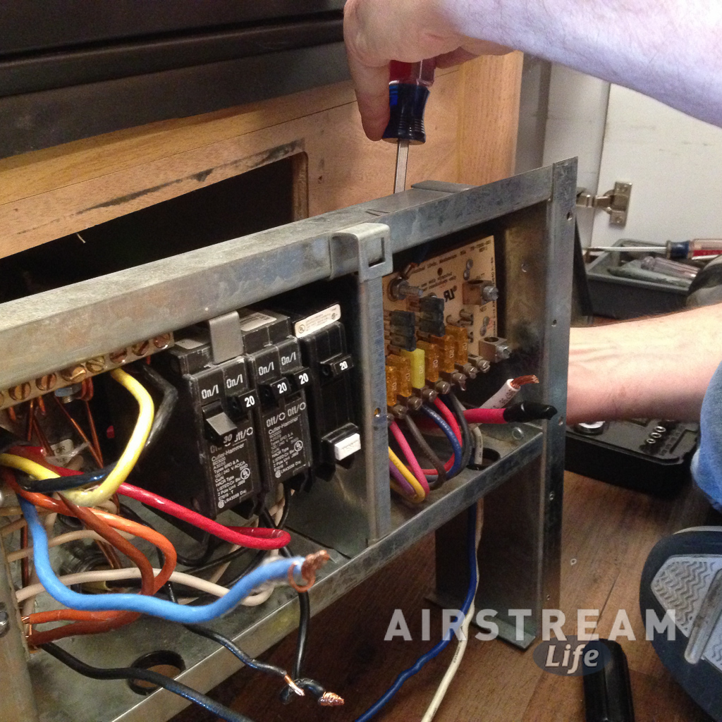 The Last Electrical Upgrade Wiring A New Sub Panel Our Goal Here Was To Install Ac Distribution Thats Because It Needed Be Split Into Two Main For Air Conditioner And
