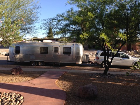 Airstream ready for departure